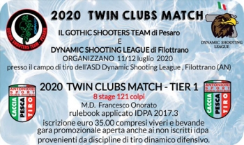 2020 Twin Clubs Match (Tier 1) - 11 e 12 Luglio 2020